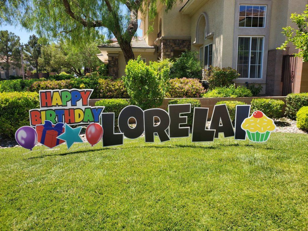 yard sign birthday